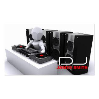 Tarjeta de la visita de DJ Tarjetas De Negocios