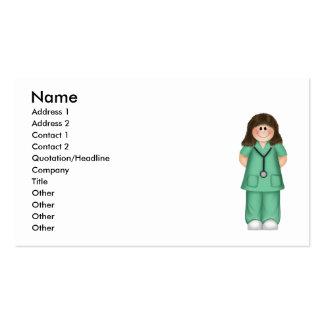 Tarjeta de la visita de la enfermera tarjetas de visita