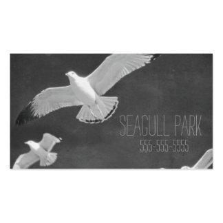 Tarjeta de la visita de la gaviota blanca hermosa tarjeta personal