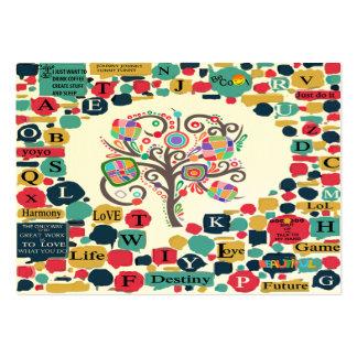 Tarjeta de la visita de la gente tarjetas de visita grandes