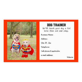 Tarjeta de la visita del adiestrador de perros ada plantilla de tarjeta personal