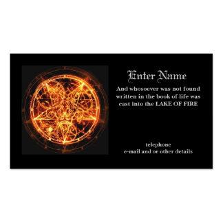 tarjeta de la visita del diablo plantilla de tarjeta de negocio