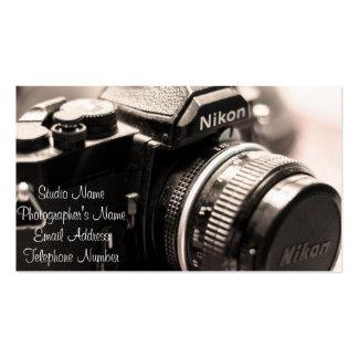 Tarjeta de la visita del fotógrafo tarjetas de visita