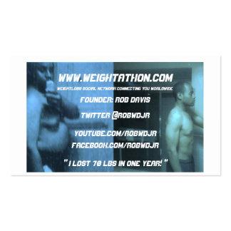 Tarjeta de la visita del fundador de Weightathon Tarjeta De Visita