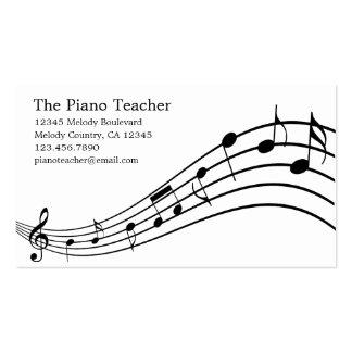 Tarjeta de la visita del músico del pianista del p tarjetas de negocios