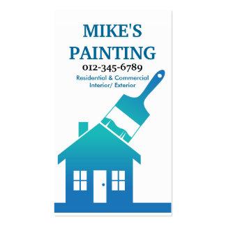 Tarjeta de la visita del pintor de casa tarjetas de visita