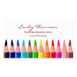 Tarjeta de la visita del profesor coloreado de los tarjetas de negocios