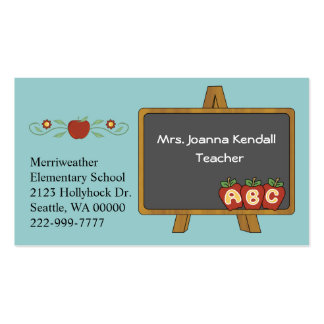 Tarjeta de la visita del profesor de encargo color tarjetas de visita