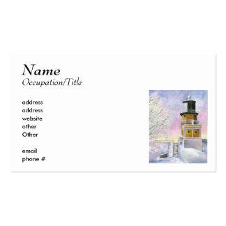 Tarjeta de la visita ligera de enero tarjeta personal