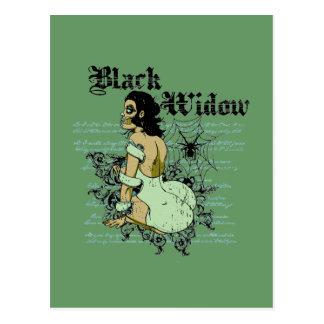 tarjeta de la viuda del negro tarjeta postal