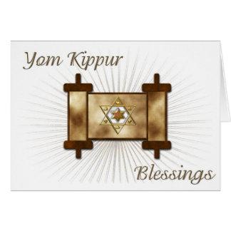Tarjeta de la voluta de Yom Kipur