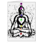 tarjeta de la yoga del chakra