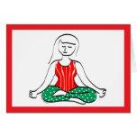 Tarjeta de la yoga del día de fiesta