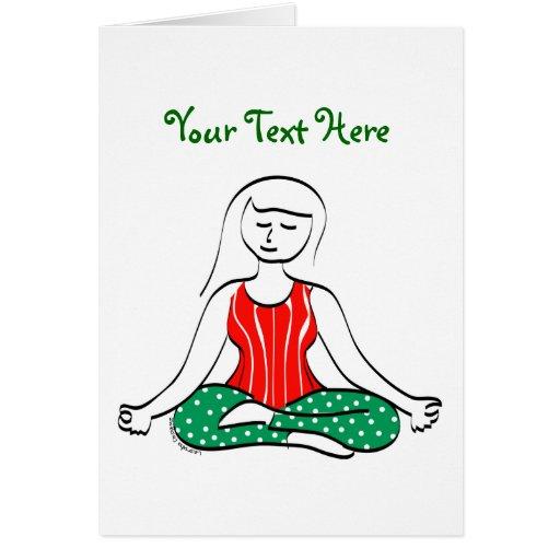 Tarjeta de la yoga del navidad