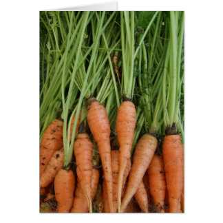 Tarjeta de la zanahoria