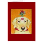Tarjeta de Labrador del navidad