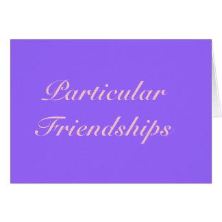 """Tarjeta de las """"amistades particulares"""""""