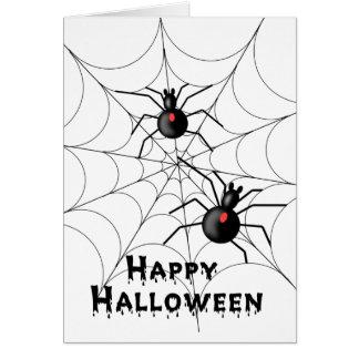 Tarjeta de las arañas de Halloween - TBA