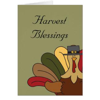 Tarjeta de las bendiciones de la cosecha de Tucker