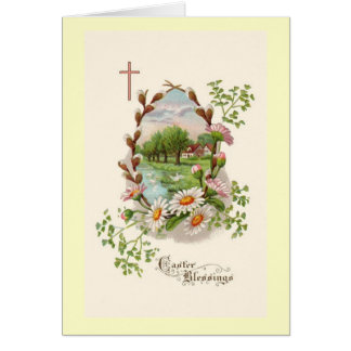 TARJETA de las bendiciones de Pascua
