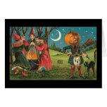 Tarjeta de las brujas del vintage