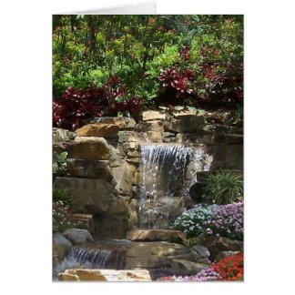 Tarjeta de las cascadas del jardín