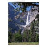 Tarjeta de las cataratas de Yosemite