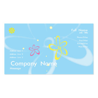 Tarjeta de las cometas plantilla de tarjeta de negocio