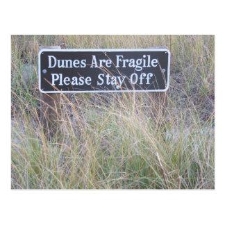 Tarjeta de las dunas de arena tarjeta postal
