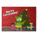 Tarjeta de las Felices Navidad de Gummibär