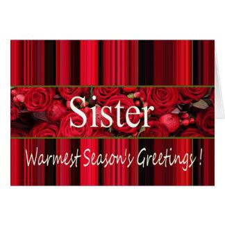 Tarjeta de las Felices Navidad de la hermana