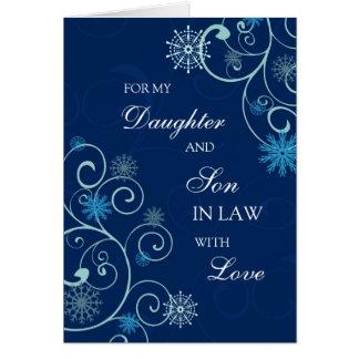 Tarjeta de las Felices Navidad de la hija y del ye
