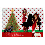 Tarjeta de las Felices Navidad de la lesbiana