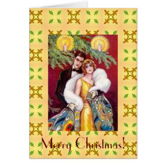 Tarjeta de las Felices Navidad de los pares del