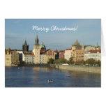 Tarjeta de las Felices Navidad de Praga