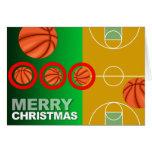 Tarjeta de las Felices Navidad del baloncesto