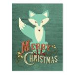 Tarjeta de las Felices Navidad del Fox del trullo Tarjeta Postal