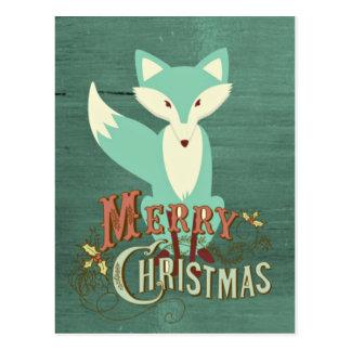 Tarjeta de las Felices Navidad del Fox del trullo Postal