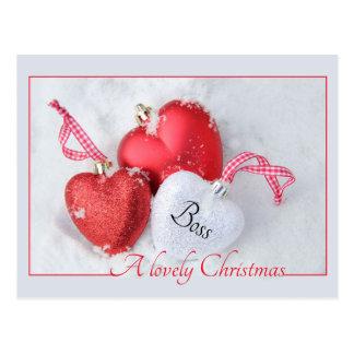 tarjeta de las Felices Navidad del jefe Postales