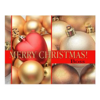 tarjeta de las Felices Navidad del jefe Tarjeta Postal