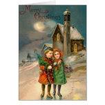 Tarjeta de las Felices Navidad del vintage