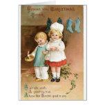Tarjeta de las Felices Navidad del vintage - tarje