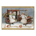 Tarjeta de las Felices Navidad del vintage - viejo