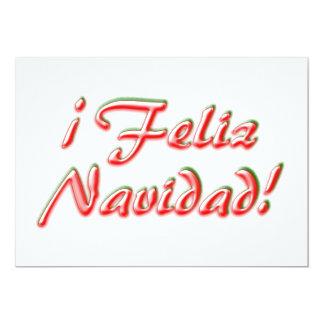 """Tarjeta de las Felices Navidad Invitación 5"""" X 7"""""""