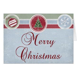 Tarjeta de las Felices Navidad para los amigos,