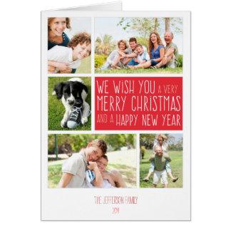 Tarjeta de las Felices Navidad - plantilla del