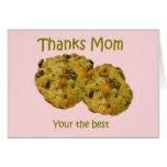 Tarjeta de las galletas del día de madre