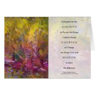 Tarjeta de las glicinias del rezo de la serenidad