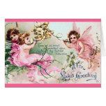 Tarjeta de las hadas de la tarjeta del día de San