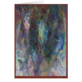 Tarjeta de las hadas del fractal: Plantilla